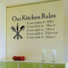 wall decals for dining room 2015 quote vinyl art wall stickers decal our kitchen rules