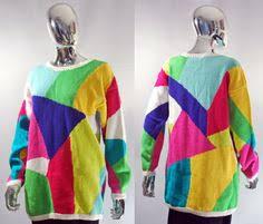 vintage retro 80s pattern mackinaw knit sweater jumper 1570 like
