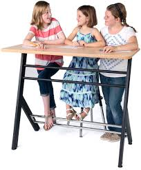 Standing Desks For Students 6th 12th Yze Double Standing Desk Stand Up Deskstand2learn
