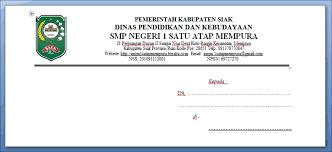 membuat kop surat organisasi cara membuat kop amplop surat resmi arsip online ku