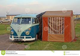 Camper Van Awnings Vintage Volkswagon Splitscreen Camper Van Editorial Stock Photo
