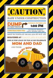 construction baby shower caution baby construction baby shower invitation
