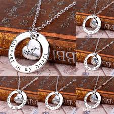 heart ring necklace images Wholesale forever in heart ring necklace family brother daughter jpg