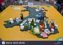Map Of Wales Food Map Of Wales At Abergavenny Food Festival Stock Photo