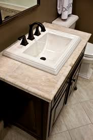 Bathroom Vanity Counter Top Travertine Vanity Top Diy Pinthedream I The Look Sing