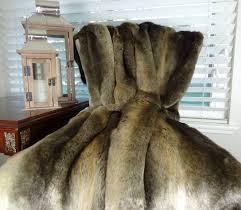 Faux Fur Throw Blanket Tissavel Bronze Faux Fur Blanket Bronze Rabbit Fur Throw