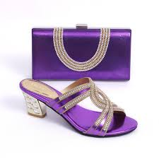 wedding shoes and bags buy purple gf39 shoes and bag set for wedding pumps