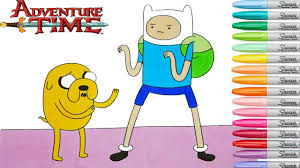 adventure time coloring book pages finn and jake cartoon network