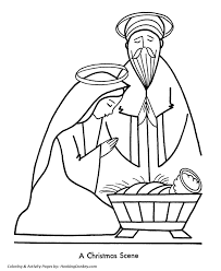 religious christmas bible coloring pages nativity scene coloring