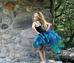 Peacock Halloween Costumes Peacock Bustle Style Tulle Tutu Tail