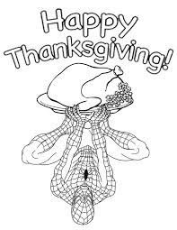 spiderman turkey thanksgiving coloring u0026 coloring pages