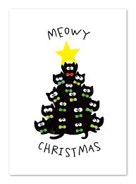 meowy christmas christmas cats