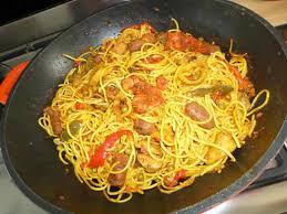cuisiner espagnol recette de spaghettis à l espagnol