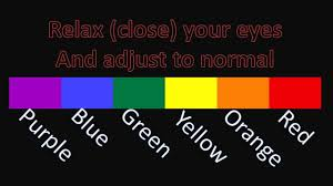 simple basic colour color optical illusions including