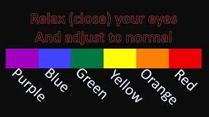 Colour Color Simple Basic Colour Color Optical Illusions Including Jesus