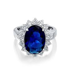 engagement ring sapphire bling jewelry royal 925 sterling silver simulated