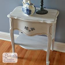 Curved Nightstand End Table Painted French End Table Night Stand Plum Doodles