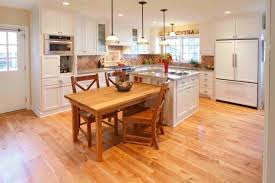 island table kitchen wood floor wood island with table extensions kitchens and tables