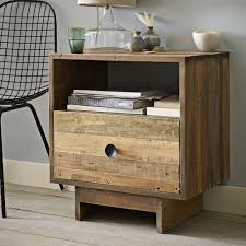 Reclaimed Wood Side Table Emmerson Reclaimed Wood Nightstand Natural West Elm