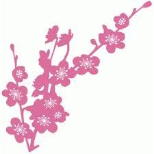 silhouette design store view design 76857 cherry blossom branch