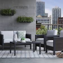 Threshold Belvedere Patio Furniture by Bryant 4 Pc Faux Wood Patio Furniture Set Threshold Wood