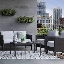 bryant 4 pc faux wood patio furniture set threshold wood