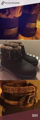 jocelin ugg boots sale ugg boot jocelin black flannel sheep skin cuff lightly worn