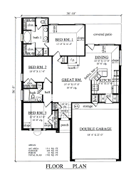 traditional style house plan 3 beds 2 00 baths 1311 sq ft plan