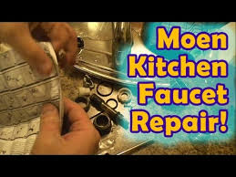 Kitchen Faucet Leaking At Base Easy Moen Leaking Kitchen Faucet Repair Youtube