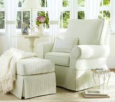 Slipcover For Glider And Ottoman Custom Slipcovers Custom Window Treatments Decorators