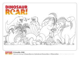 free dinosaur roar colouring pages paul stickland