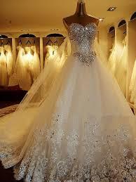 lace wedding dresses 2015 luxurious crystal sparkling diamond