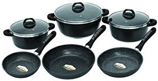 batterie de cuisine en schumann schumann professionnel sba2201500 black rock lot de 15 pièces