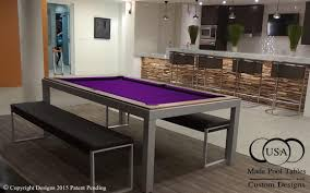 fusion pool dining table fusion industrial pool table steel pool table metal pool table