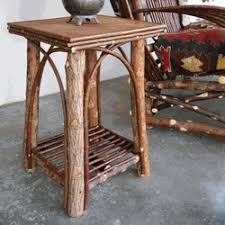 Adirondack Rustic Interiors We Offer Square Willow End Tables Twig End Tables Willow