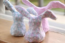 paper mache rabbit diy paper mache bunnies world of pineapple
