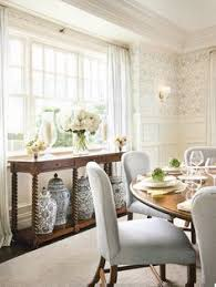beautiful classic dining room textured wallpaper black accents