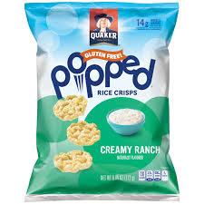 quaker quakes rice snacks ranch 6 06 ounce walmart com