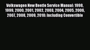 download volkswagen new beetle service manual 1998 1999 2000 2001