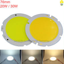 76mm 20w 30w ultra bright circular led chip cob light source for