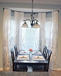 Drapes For Bay Window Pictures Other Dining Room Bay Window Treatments Unique On Other With Ideas