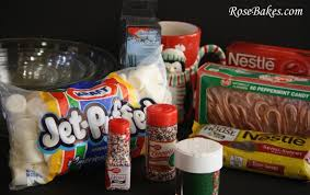 hot chocolate gift basket peppermint marshmallow dips for hot chocolate great gift idea