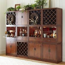 pier one corner cabinet long tall bar cabinet from brown wood finishing with lattice wine