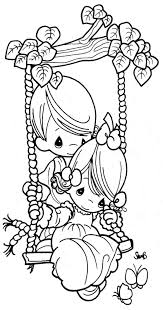 coloring pages couple swing precious moments coloring