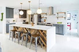 Brand New Kitchen Designs Ikea Kitchen Remodel With Industrial Stools And Wooden Criss Cross