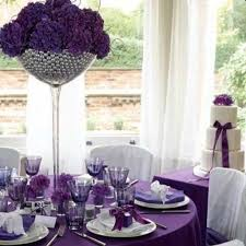wedding decoration enchanting picture of purple table setting