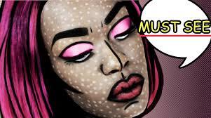 comic strip halloween makeup pop art roy lichtenstein destinygodley youtube