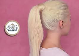 short ballroom hair cuts high ponytail w clip in extensions hairstyle tutorial dance comp