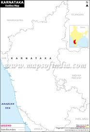 karnataka outline map blank map of karnataka
