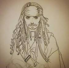 jack sparrow sketch by the winter on deviantart